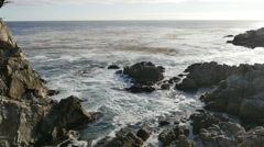 17 Mile Drive Slow Motion 12 California Coastline 96fps Stock Footage