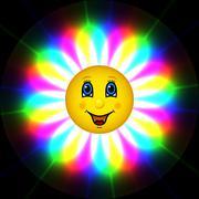 Stock Illustration of happy bloom sun