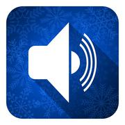 Volume flat icon, christmas button, music sign. Piirros