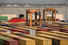 Container port, harbor - stock photo