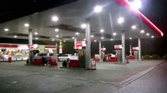 Petrol Station Dublin Stock Footage