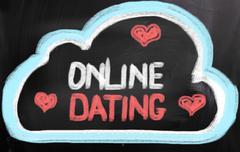 Online Dating Concept Stock Illustration