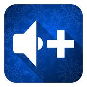Speaker volume flat icon, christmas button, music sign. Piirros