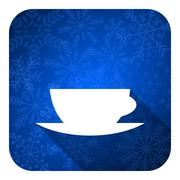 Espresso flat icon, christmas button, caffe cup sign. Stock Illustration