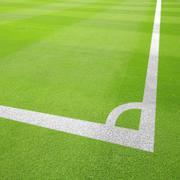 football field corner - stock photo