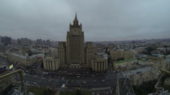 Moscow is an old building, dark, menacing look, timelaps Stock Footage