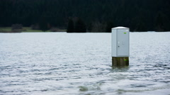Electrical box in water Stock Footage