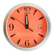 One minute to twelve o'clock on orange dial Stock Photos