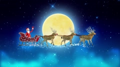 2016 Santa in the skies Stock Footage