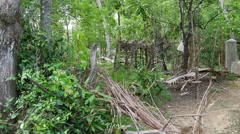 Well in a remote area in Anuradhapura District of Sri Lanka Stock Footage