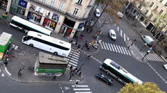 Paris streets from above Stock Footage