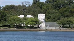MLK Memorial from across the Tidal Basin.mp4 Stock Footage