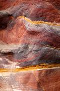 Sandstone gorge abstract pattern formation, Rose City cave, Siq, - stock photo