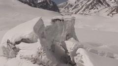 Glaciers Chile - Cajon del Maipo Stock Footage
