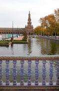 Famous Plaza de Espana Stock Photos