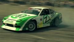Car race drift competitions Stock Footage