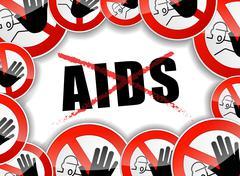 No aids concept Stock Illustration