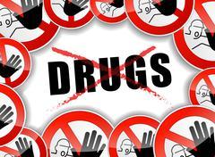 No drugs concept Stock Illustration