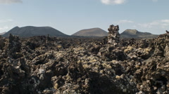 Volcanic Landscape Stock Footage
