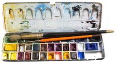 Watercolor box Stock Photos