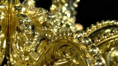 Gold Crown, made by jeweler cordovan Manuel Valera Stock Footage