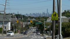 NYC Skyline from Staten Island Stock Footage