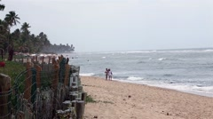 Amazing Landscape on Praia do Forte in Mata de Sao Joao, Bahia, Brazil Stock Footage