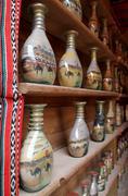 Tradicional desert botlle sand art, made as souvenir - stock photo