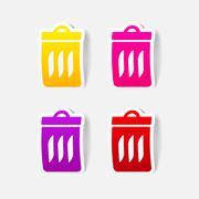 Stock Illustration of realistic design element: trash can