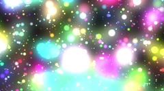 Bright Multicolored Glowing Psychedelic Starfield Loop 1 rotate left Stock Footage