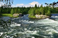 Umba river. kola peninsula, russia Stock Photos