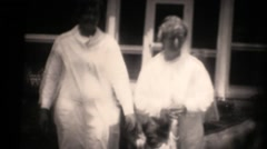 1930's family on estate Stock Footage