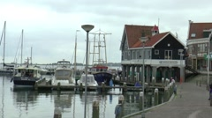 Yacht and sailboats in the harbor Stock Footage
