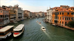 Grand Canal boats, Venice, Italy Stock Footage