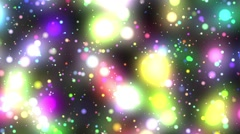 Bright Multicolored Glowing Psychedelic Starfield Loop 2 Stock Footage