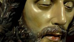 Cristo de La Lanzada, a work by Francisco Joaquín Moreno Daza 1985 Stock Footage