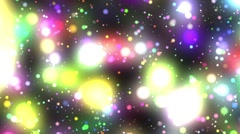 Bright Multicolored Glowing Psychedelic Starfield Loop 2 rotate left Stock Footage