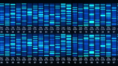 Dna sequence animation. Stock Footage