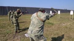 Operators in Training on Firing Range Stock Footage