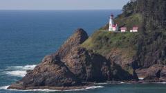 Heceta Head lighthouse Stock Footage