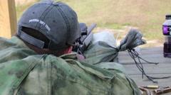 POV of Sniper Firing at Long Range Target Stock Footage