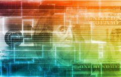 finance digital data concept - stock illustration