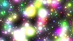 Bright Multicolored Glowing Psychedelic Starfield Loop 2 rotate right Stock Footage