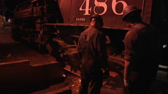 #486 at the ash pit Stock Footage