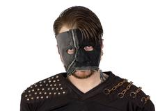 Photo of the angry man in mask - stock photo