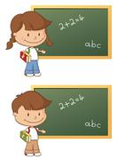school time - stock illustration