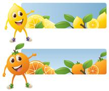 Citrus banners Stock Illustration