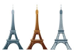 Eiffel tower Stock Illustration