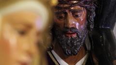 Jesús de la Pasión y Virgen del Refugio Stock Footage