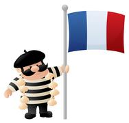 Stock Illustration of patriotic frenchman
